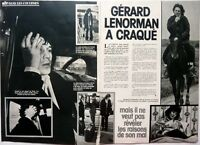 GERARD LENORMAN => coupure de presse 2 pages 1977 //  FRENCH CLIPPING