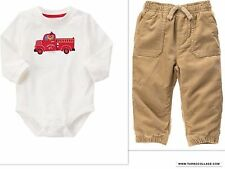 GYMBOREE SNOW COZY FIREMANS TODDLER BOYS OUTFIT NWT SIZE 12-18 MONTHS