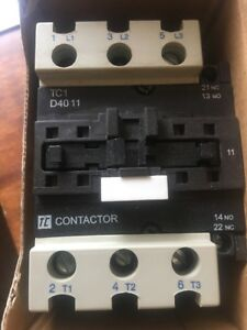 400v Contactor Electrical Relay 40 Amp 22Kw  3 pole 230v ac coil NEW TC1D4011P7