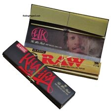 2 packs New WIZ KHALIFA Raw King Size Slim Rolling Papers & Tips Limited Edition