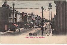 CGH: Postcard, Queen Street - Port Elizabeth: to Wiltshire, 11 Feb 1908