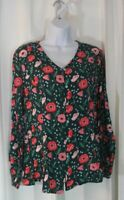 Matilda Jane nwt Yesteryear top womens Small S green floral shirt