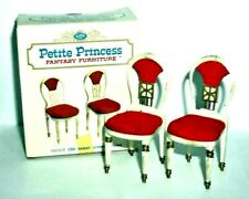 Petite Princess Vintage Miniature Dollhouse Furniture Guest Dining Chairs