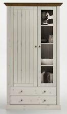 Steens Massivholz Vitrine Monaco Landhausstil White-wash Provence