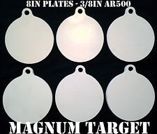 8in. 3/8in. AR500 Hardened Metal Gongs - Steel Shooting Range NRA Pistol Targets