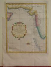 PERSIAN GULF MALDIVES INDIA PAKISTAN ARABIA IRAN 1750 BELLIN UNUSUAL ANTIQUE MAP