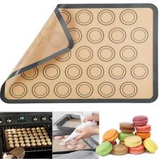 30 Baking Silicone Macaroon Tray Non Stick Mould Cavities Macaron Sheet Mat