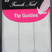 NAIL FRENCH ART ADESIVE LUNETTE PER MANICURE BIANCHE nn