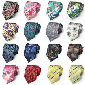 Men's High Grade 8CM Wide Necktie Paisley Geometric Pattern Business Tie HZ338