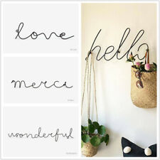 1PC Wire Letters Home Decor Interior Wall Sign Gift Love Happy  Decorative Wall