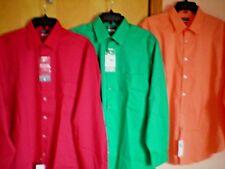 S Van Heusen Extreme Color Dress Shirt Size 18- 18 1/2 34/35 2xl Pink