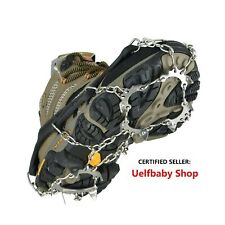 Uelfbaby 19 Spikes Crampons Ice Snow Grips Traction Cleats System Safe Protec...