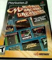 Sony PlayStation 2 Midway Arcade Treasures Disc Only Rated T Teens 2003 Midway