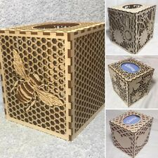 Wooden IntricateTissue Box Covers - Various Designs Choose From Pull Down Menu