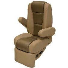 Godfrey Boat Captain Helm Seat 790074 | Taupe Recliner Chair (Stain)