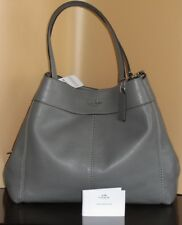 NWT Authenetic Coach F28997 Lexy shoulder bag Leather Heather Grey