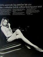 "Fisher Body Leg Room 1969 General Motors Original Print Ad 8.5 x 11"""