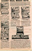 1929 small Print Ad of Adams Real Magic Sets Chinese Linking Rings Cards Tricks