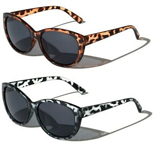 2 Pairs Women Outdoor Reading Sunglasses Oversized - Full Lens Readers Leopard