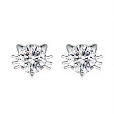 925Sterling Silver Fashion Jewelry Accessories Cat Face Women Earrings EY942