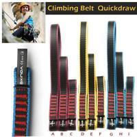 22KN Rock Climbing Quick Draw Sling Carabiner Webbing Nylon Strap Rescue Rigging