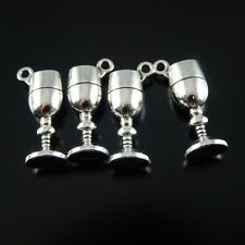 Wholesale 50pcs Silver Alloy Wine Goblet Cup Charms Pendant Craft Findings 52062