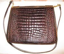 Borsa in vera pelle di coccodrillo-Vintage anni  70 472cd24e1fdf