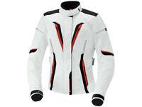 iXS Textiljacke Damen Rina | Weiß-Schwarz-Rot | Motorradjacke aus Polyester