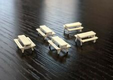 Picnic Tables - N Scale - set of 5