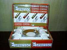 12 Piece Create Just Mugs Espreso Coffee Set Made In England New In Box