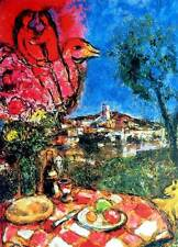 """MARC CHAGALL """"Bouquet Over The City"""" Limited Edition Colour Lithograph"""