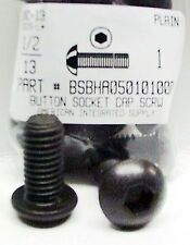 1/2-13x1 Button Head Hex Socket Cap Screws Alloy Steel Black (7)