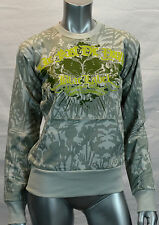 New Blac Label PINK Women's LIVE FAST Long Sleeve Sweat shirt, Small, Gray