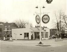 VINTAGE PURE GAS STATION  PHOTO PUMPS 5x7  1950's #2