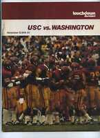 1976 USC Trojans vs Washington football program