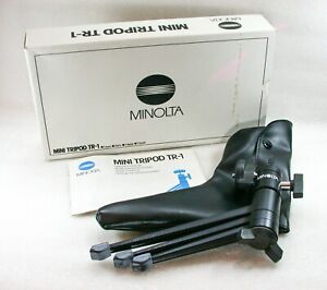 Minolta Mini Tripod TR-1,  Table Top Tripod + Box & Case