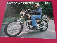 1983 Honda CM250 CUSTOM Motorcycle Sales Brochure - Literature