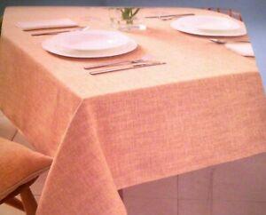NEW - DUNELM Vermont Ochre Tablecloth 178 X 300 cm, 71 X 118'' Rectangle
