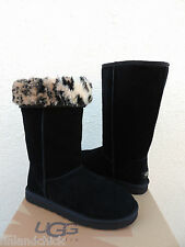 UGG BLACK CLASSIC TALL ANIMAL SUEDE/ SHEEPSKIN BOOTS,  US 10/ EUR 41 ~ NIB