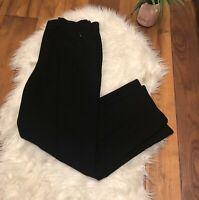 Elie Tahari Womens flare wide Leg Dress Pants Trousers Black Triacetate 8 ~ X3