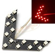 2pcs Red 14-SMD LED Arrow Panels for Car Side Mirror Turn Signal Lights