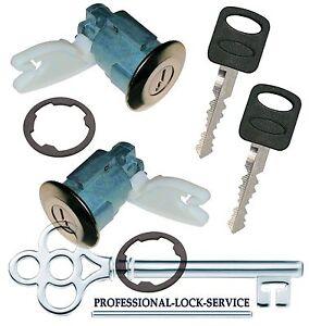 Mazda Navajo 1991-1994 Door Key Lock Cylinder Pair Set Tumbler Barrel 2 Keys