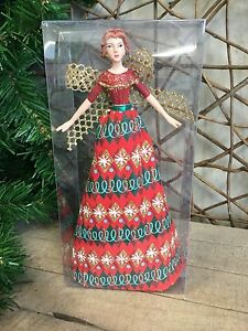Gisela Graham 'Festive' tree top Christmas fairy angel 18cm RRP £16.50