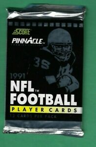 1991 Un-opened Score Pinnacle Football Pack 12 Cards Premier Edition