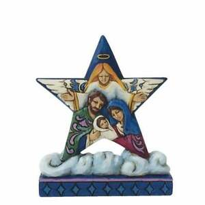 Jim Shore Heartwood Creek Nativity Star Cloud Holy Family Mini Figurine 4058811
