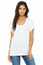 Bella+Canvas Lightweight Flowy Longshirt weiß Größe S, L