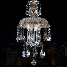 LED Cognac Crystal Ceiling Light Corridor Chandelier Lighting Dining Room Lamp