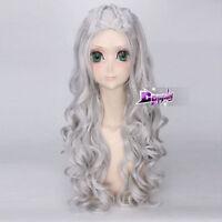 Anime Costume Fashion 70 CM Sliver Gray Long Cosplay Wig