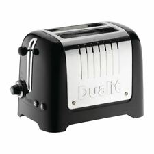 More details for dualit 2 slice lite toaster black 26205 small kitchen appliance wide slot