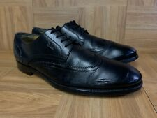 RARE🔥 GUCCI Black Leather Wingtip Oxford OX Shoes Sz 8.5 Made in Italy Men's LE